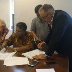 Signing between DPW & WSJ
